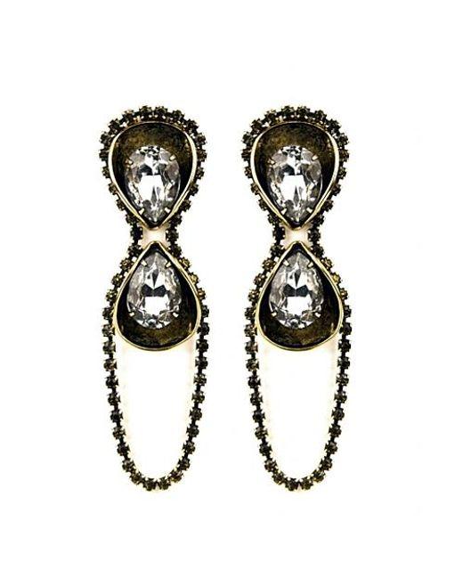 Nicole Romano | Black Lino Earrings | Lyst