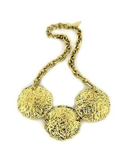 Nicole Romano | Metallic Hammered Disc Necklace | Lyst