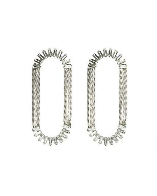 Nicole Romano | White Alvatore Earrings | Lyst