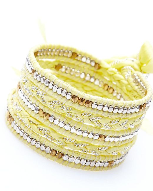 Nakamol | Multicolor Jhulier Wrap-gold & Silver/yellow | Lyst