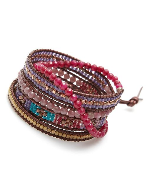 Nakamol   Multicolor Luminous Wrap Bracelet-ruby   Lyst