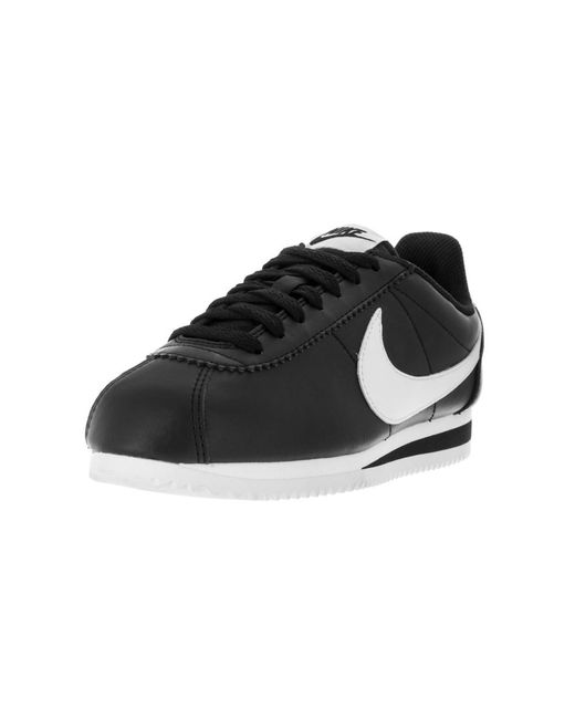 Lyst Nike Women's Classic Cortez Leather Casual Shoe in Black