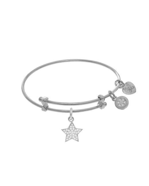 Angelica - White Star Charm Expandable Tween Bangle Bracelet - Lyst