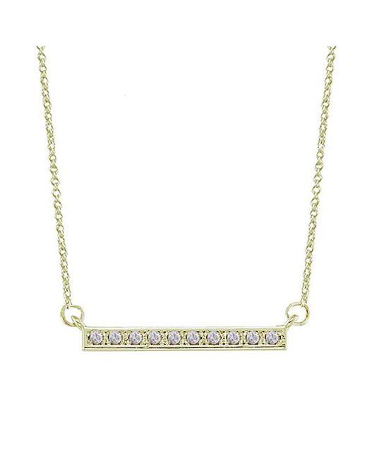 Adornia   Purple Diamond And Yellow Gold Vermeil Barra Bar Necklace   Lyst