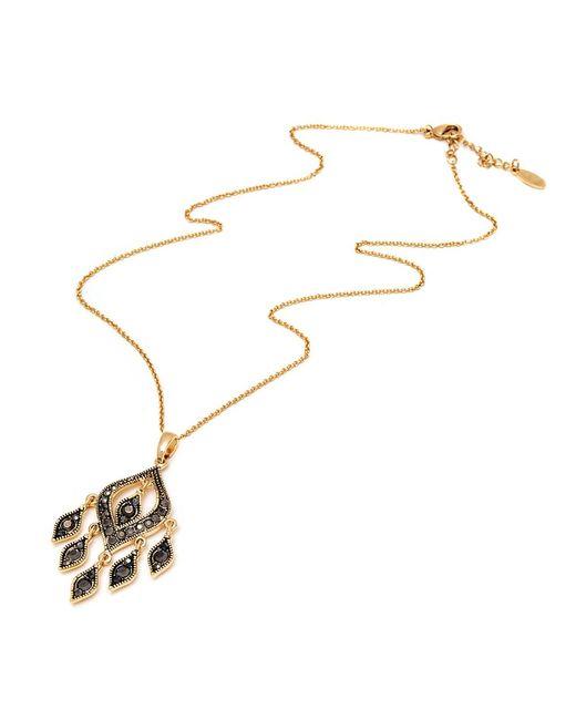 Peermont   Metallic Gold And Black Swarovski Elements Chandelier Pendant Necklace   Lyst