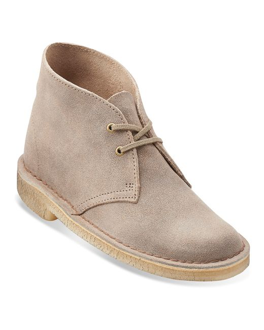 Wonderful Clarks Desert Boot Brown Suede Women Ankle Boots  Weoee Fashion