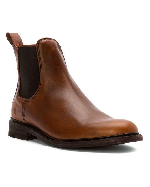 frye men 39 s james chelsea boots in brown for men cognac lyst. Black Bedroom Furniture Sets. Home Design Ideas