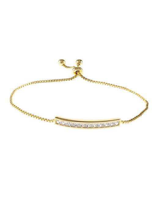 CZ by Kenneth Jay Lane | Metallic 4cttw Princess Cz Shamballa Adjustable Bracelet | Lyst