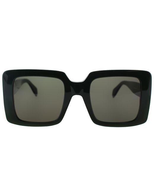 6fe7c3af52 Céline Square Plastic Sunglasses in Black (green) - Save 29%