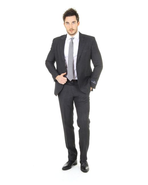 Versace Clak 2 Buttons Suit In Black For Men (grey)