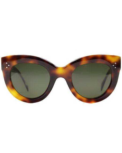 a0fc5b9975db0 Celine Cat Eye Sunglasses Black Havana