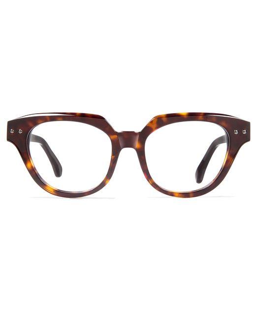 Cynthia rowley Dark Tortoise Cat-eye Plastic Eyeglasses in ...
