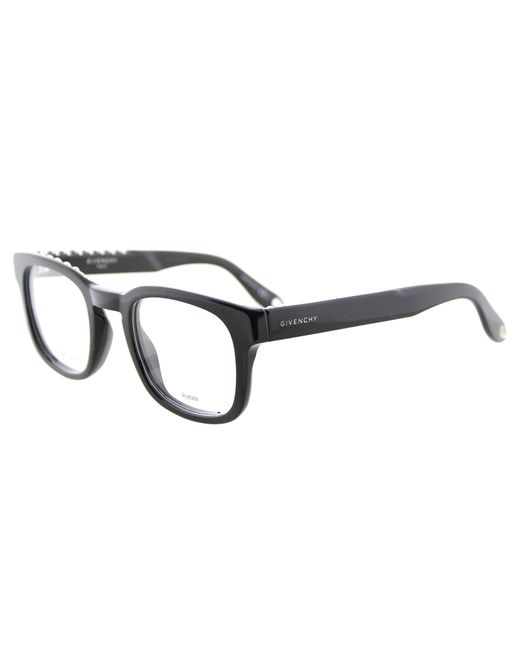 Givenchy Square Plastic Eyeglasses in Black Lyst