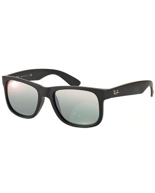 c6dd0b850e Ray-ban Justin Square Rubber Sunglasses in Black