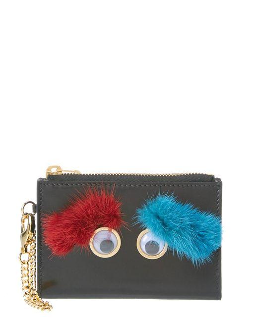 Sophie Hulme   Red Mini Ernie Eyebrows Leather Wallet   Lyst
