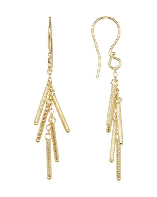 Adornia | Yellow Gold Vermeil Matte Multi Bar Earrings | Lyst