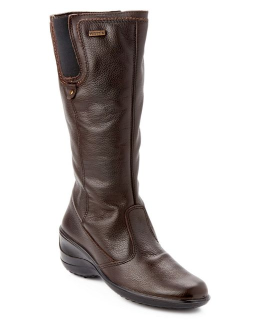 santana canada quot quot eartha quot quot leather wedge boot in brown