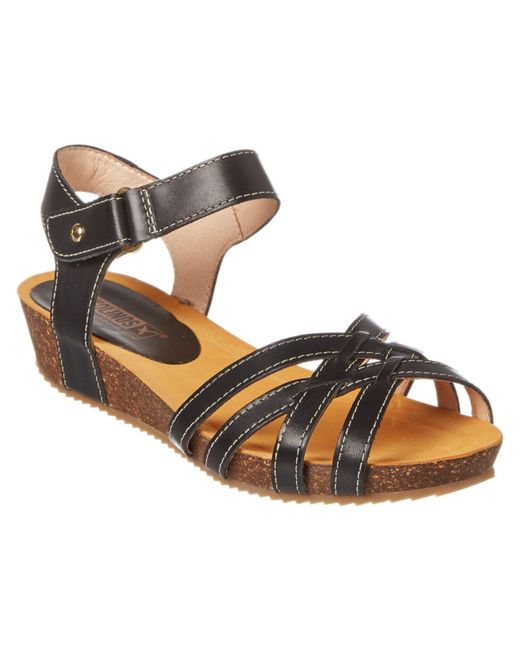 Pikolinos | Black Rennes Leather Sandal | Lyst