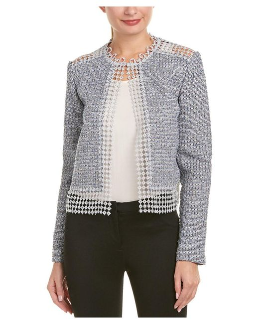 T Tahari - Blue Jacket - Lyst