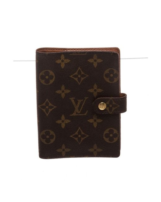 Louis Vuitton - Brown Pre Owned- Monogram Small Ring Agenda - Lyst