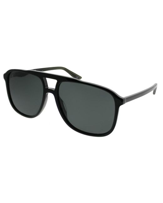 f3bd43809f8 Lyst - Gucci Gg0262s 001 Black Aviator Sunglasses in Black