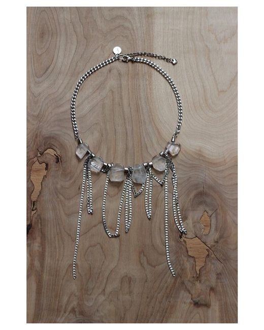 Love Leather | Metallic Liquid Disco Necklace | Lyst