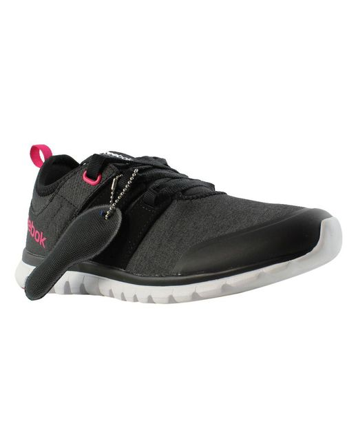 Lyst - Reebok Womens Sublite Authentic 2.0 Mt Black Running Shoes in ... 01deff09e