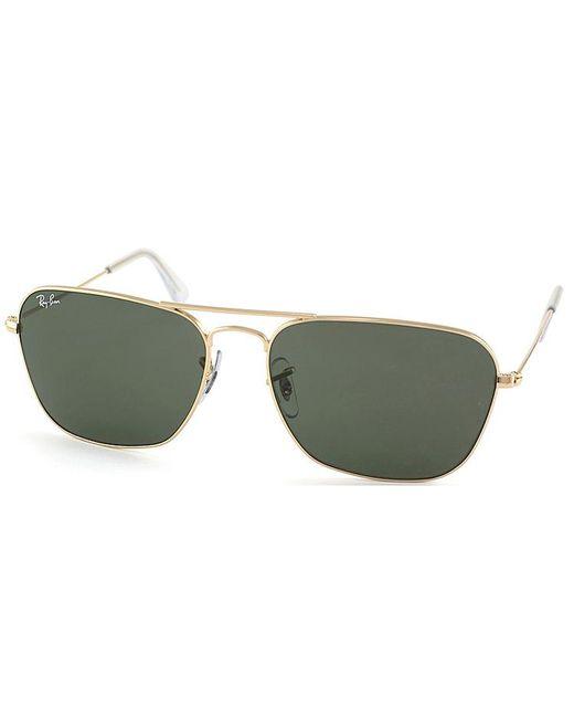 Ray-Ban - Metallic Caravan Aviator Metal Sunglasses - Lyst