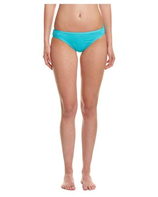 Kensie | Blue Solid Bikini Bottom | Lyst