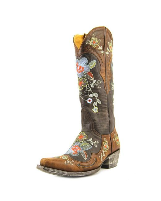 Old Gringo | Brown Floral-embroidered Boot | Lyst