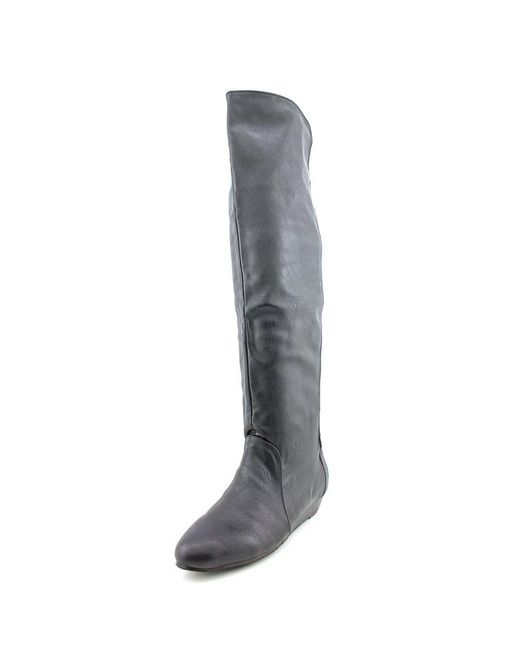 Chinese Laundry | Black Trickster Women Round Toe Synthetic Over The Knee Boot | Lyst