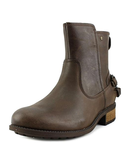 UGG | Brown Orion Leather Ankle Boots | Lyst