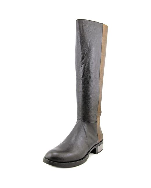 Circus by Sam Edelman | Roxie Women Round Toe Leather Black Knee High Boot | Lyst