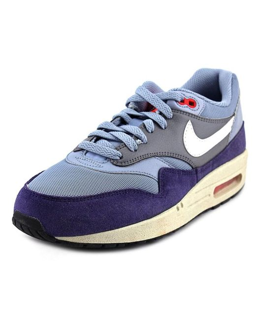 Nike | Blue Air Max 1 Essential Men Round Toe Leather Sneakers | Lyst