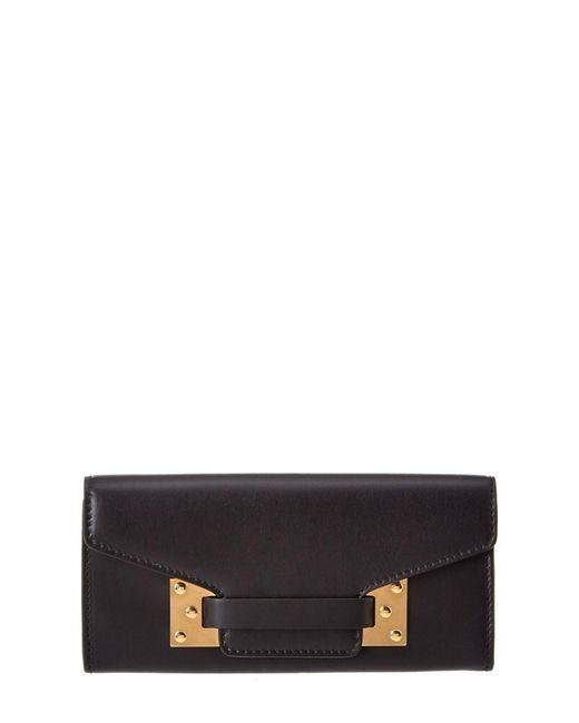 Sophie Hulme | Black Milner Leather Flap Wallet | Lyst