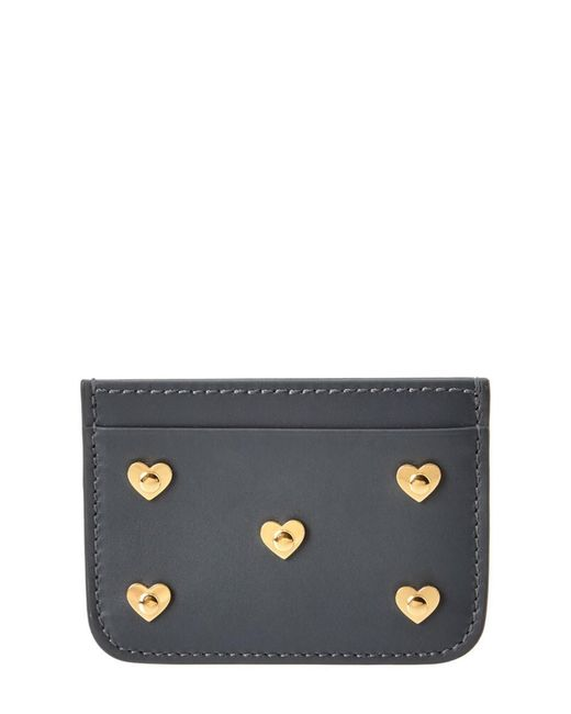 Sophie Hulme | Gray Hearts Rosebery Leather Cardholder | Lyst