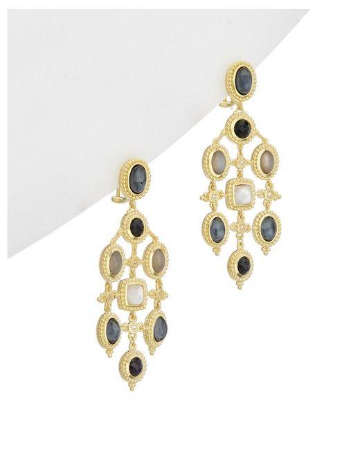 Judith Ripka - Metallic 14k Over Silver 17.81 Ct. Tw. Gemstone & Shell Pearl Drop Earrings - Lyst