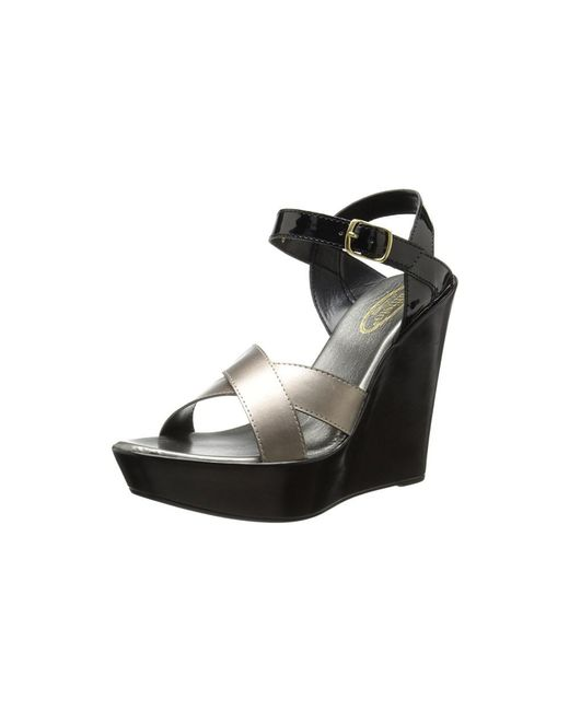 Callisto - Black Women's Scooter Wedge Sandal - Lyst