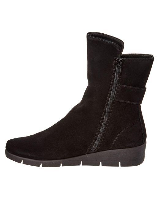 the flexx the parapsody waterproof suede boot in black lyst