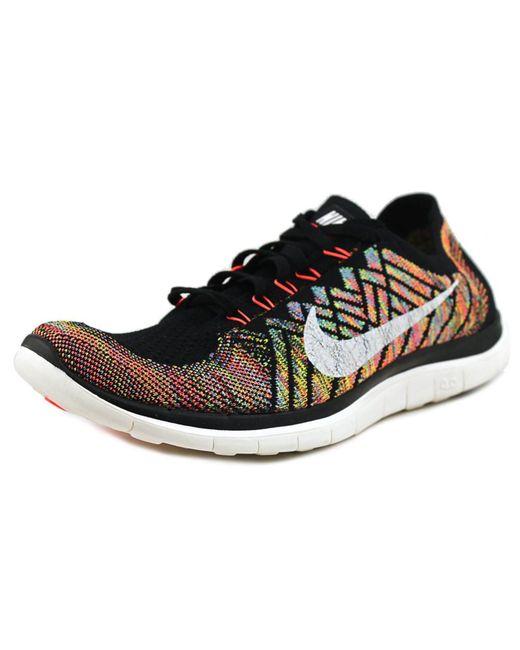 Nike Free   Flyknit Men Round Toe Synthetic Running Shoe