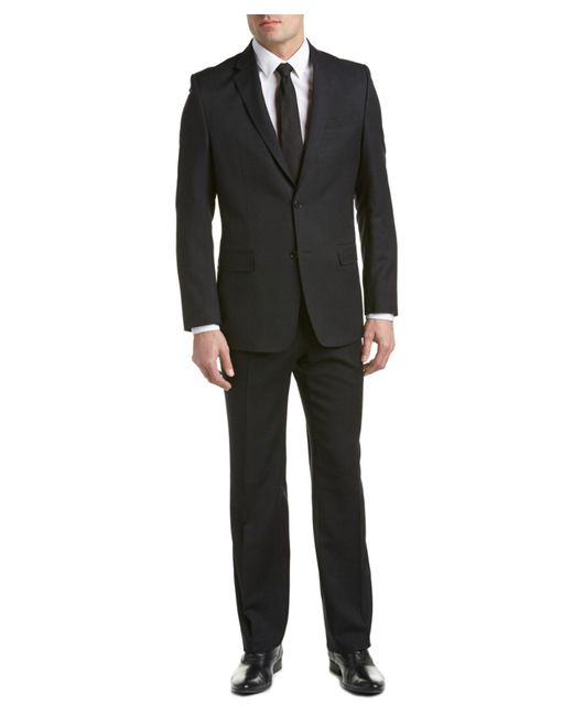 Versace Versace Collection Wool Suit With Flat Front Pant
