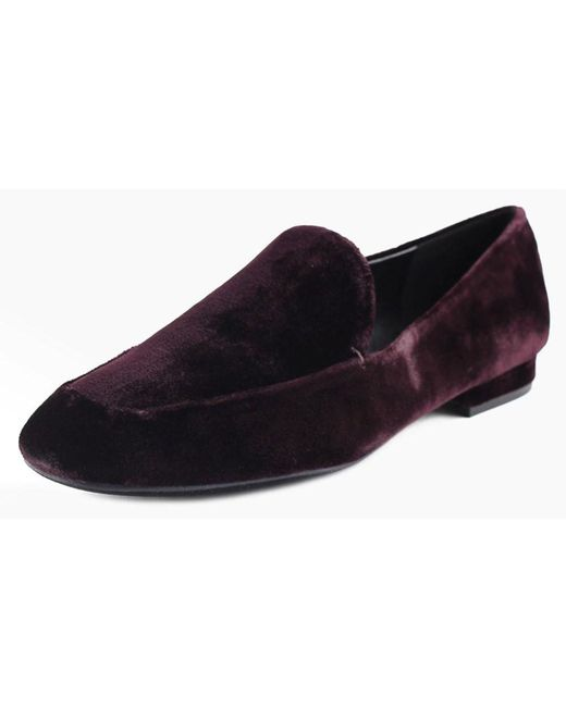Nine West | Purple Xalan Square Toe Canvas Loafer | Lyst