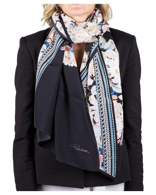 Roberto Cavalli | Black Women's Floral Print Silk Scarf Large | Lyst