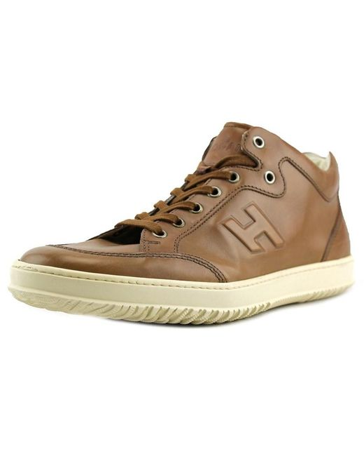 Tod's | Natural Cassetta 168 U Mid Cut H Rilievo Leather Fashion Sneakers for Men | Lyst