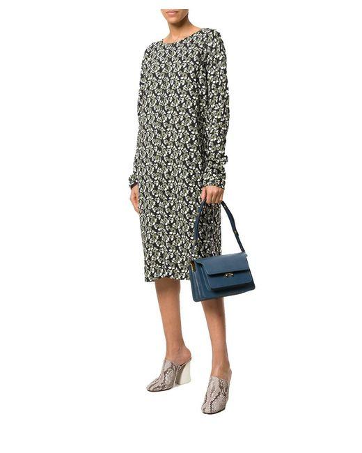 Marni - Women's Blue Leather Shoulder Bag - Lyst