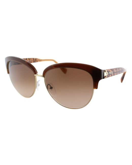 Emilio Pucci - Ep 724s 210 Brown Cat-eye Sunglasses - Lyst