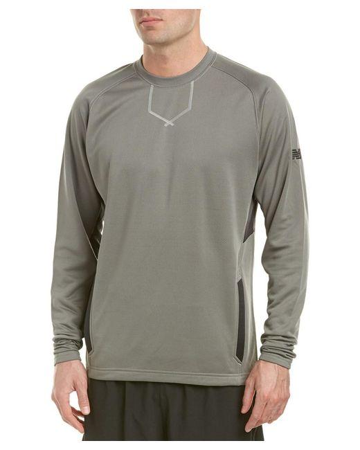 New Balance | Gray Baseball Pullover for Men | Lyst