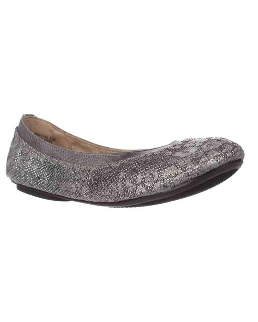 Bandolino | Metallic Edition Ballet Flats - Pewter Leopard Glamour | Lyst