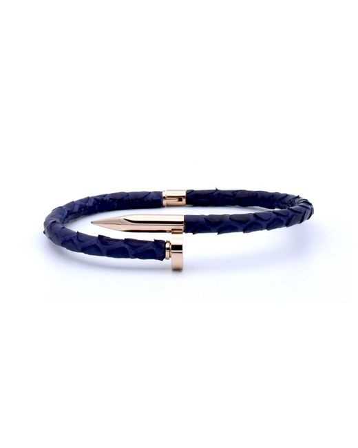 Double Bone | Nail Pink Gold/ Blue Python | Lyst