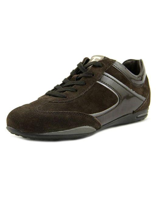 Tod's | Brown Allacciato Active T-project Leggero Round Toe Suede Tennis Shoe for Men | Lyst